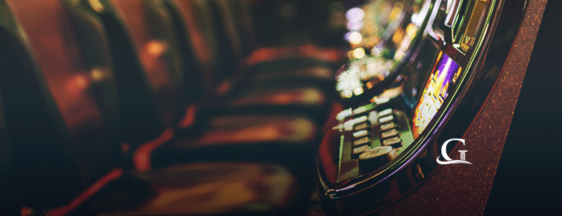 Slot Machines At A Casino Stock Photo