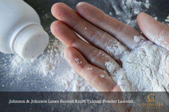 Spilled Talcum Powder Bottle Stock Photo