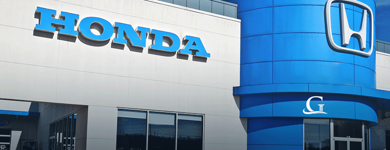 Exterior Of Honda Dealership Stock Photo