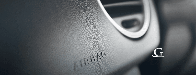 Airbag Inside A Vehicle Stock Photo