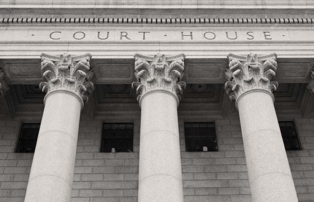 Close up of Courthouse building.