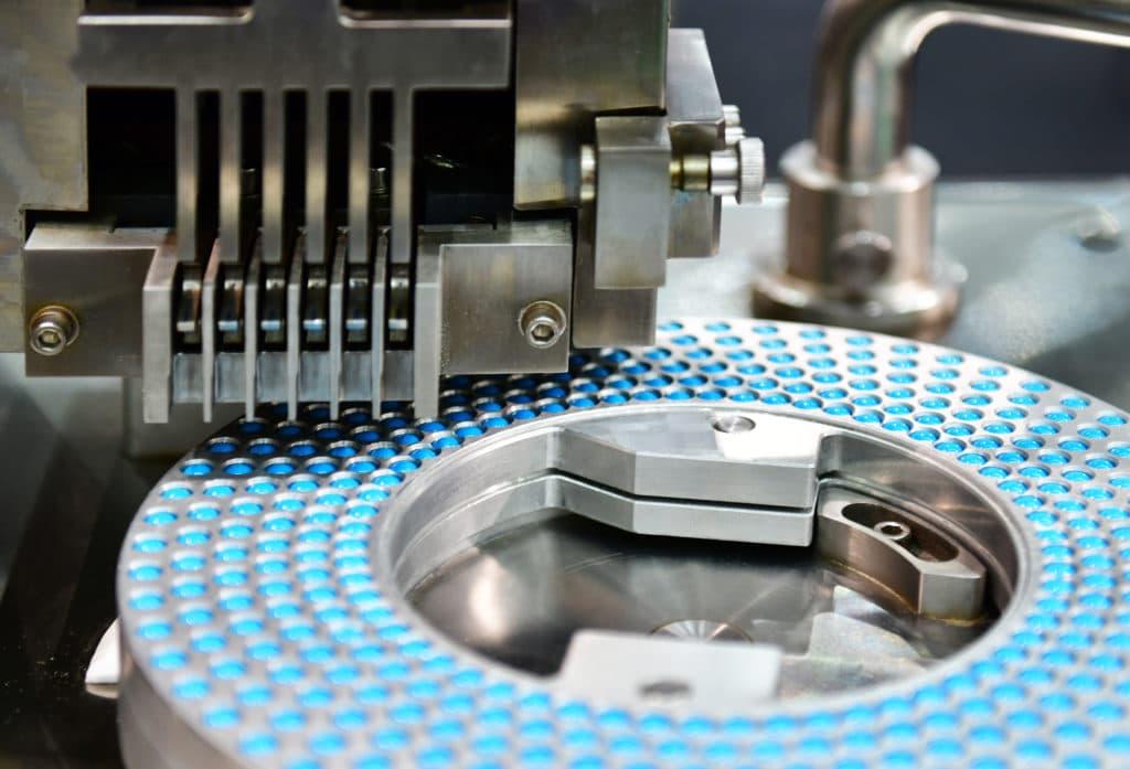 Blue capsule medicine pill production line