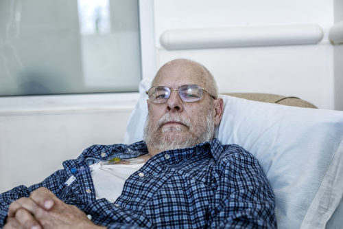 a man undergoing cancer treatment after using Roundup®